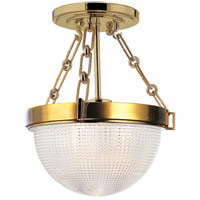 Hudson Valley 4409-AGB Winfield 1 Light 11 inch Aged Brass Semi Flush Ceiling Light