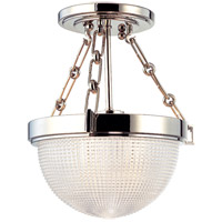 Winfield 1 Light 11 inch Polished Nickel Semi Flush Ceiling Light