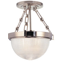 Winfield 1 Light 11 inch Satin Nickel Semi Flush Ceiling Light