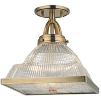 Harriman 1 Light 11 inch Aged Brass Flush Mount Ceiling Light