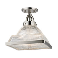 Hudson Valley Lighting Harriman 1 Light Flush Mount in Polished Nickel 4410-PN
