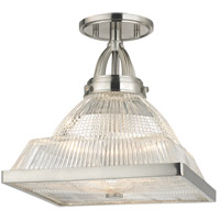 Harriman 1 Light 11 inch Satin Nickel Flush Mount Ceiling Light