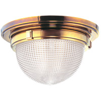 Winfield 1 Light 12 inch Aged Brass Flush Mount Ceiling Light