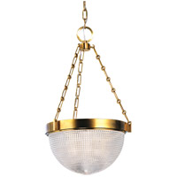 Winfield 2 Light 13 inch Aged Brass Pendant Ceiling Light