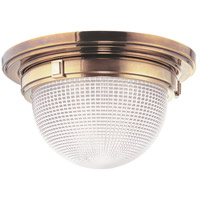 Winfield 2 Light 15 inch Aged Brass Flush Mount Ceiling Light