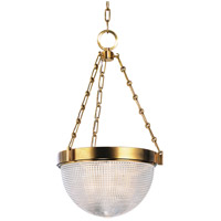 Winfield 3 Light 16 inch Aged Brass Pendant Ceiling Light