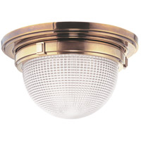 Winfield 3 Light 18 inch Aged Brass Flush Mount Ceiling Light