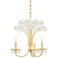 Hudson Valley 4419-AGB Beaumont 3 Light 20 inch Aged Brass Chandelier Ceiling Light