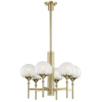 Hudson Valley 4427-AGB Salem 6 Light 27 inch Aged Brass Chandelier Ceiling Light