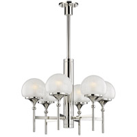 Hudson Valley 4427-PN Salem 6 Light 27 inch Polished Nickel Chandelier Ceiling Light