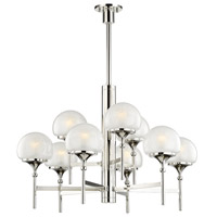 Hudson Valley 4436-PN Salem 9 Light 36 inch Polished Nickel Chandelier Ceiling Light