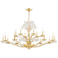 Hudson Valley 4452-AGB Beaumont 20 Light 52 inch Aged Brass Chandelier Ceiling Light