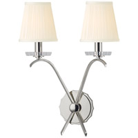 Hudson Valley Lighting Clyde 2 Light Wall Sconce in Polished Nickel 4482-PN