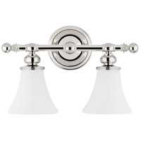 Hudson Valley 4502-PN Weston 2 Light 16 inch Polished Nickel Bath And Vanity Wall Light