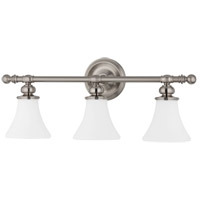 Weston 3 Light 25 inch Satin Nickel Bath And Vanity Wall Light