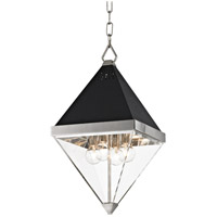 Coltrane 4 Light 10 inch Polished Nickel and Black Pendant Ceiling Light