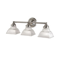 Majestic Square 3 Light 22 inch Polished Nickel Bath And Vanity Wall Light