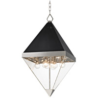 Coltrane 8 Light 15 inch Polished Nickel and Black Pendant Ceiling Light