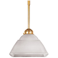 Majestic Square 1 Light 10 inch Polished Brass Pendant Ceiling Light