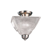 Majestic Square 2 Light 10 inch Satin Nickel Semi Flush Ceiling Light