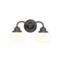 Hudson Valley 4602-OB Dawson 2 Light 16 inch Old Bronze Bath And Vanity Wall Light photo thumbnail