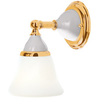 Hudson Valley Lighting Porcelain 1 Light Bath And Vanity in Polished Brass 461-PB
