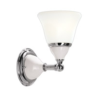 Porcelain 1 Light 6 inch Polished Nickel Bath And Vanity Wall Light