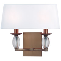 Hudson Valley Lighting Cameron 2 Light Wall Sconce in Brushed Bronze 4612-BB photo thumbnail