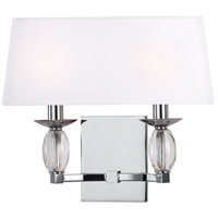 Cameron 2 Light 14 inch Polished Chrome Wall Sconce Wall Light