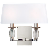 Hudson Valley 4612-PN Cameron 2 Light 14 inch Polished Nickel Wall Sconce Wall Light photo thumbnail