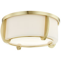 Hudson Valley 4613-AGB Talon 2 Light 13 inch Aged Brass Flush Mount Ceiling Light