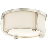 Hudson Valley 4613-PN Talon 2 Light 13 inch Polished Nickel Flush Mount Ceiling Light