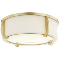 Hudson Valley 4616-AGB Talon 3 Light 16 inch Aged Brass Flush Mount Ceiling Light