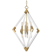 Lyons 8 Light 24 inch Aged Brass Pendant Ceiling Light