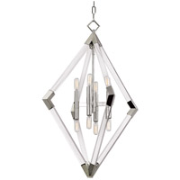 Lyons 8 Light 24 inch Polished Nickel Pendant Ceiling Light