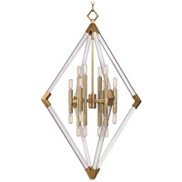 Lyons 16 Light 31 inch Aged Brass Pendant Ceiling Light