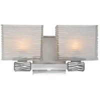 Hartsdale 2 Light 12 inch Polished Nickel Bath And Vanity Wall Light