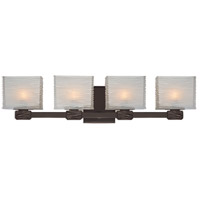 Hartsdale 4 Light 26 inch Old Bronze Bath And Vanity Wall Light