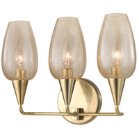 Longmont 3 Light 14 inch Aged Brass Wall Sconce Wall Light