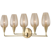 Longmont 5 Light 23 inch Aged Brass Wall Sconce Wall Light