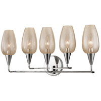 Hudson Valley Lighting Longmont 5 Light Wall Sconce in Polished Nickel 4705-PN