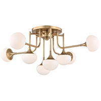 Fleming LED 37 inch Aged Brass Semi-Flush Ceiling Light