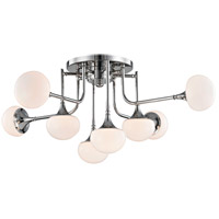 Fleming LED 37 inch Polished Nickel Semi-Flush Ceiling Light