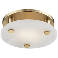 Croton LED 9 inch Aged Brass Flush Mount Ceiling Light, Small