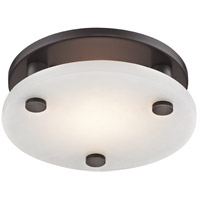 Croton LED 9 inch Old Bronze Flush Mount Ceiling Light, Small