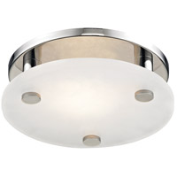 Croton LED 9 inch Polished Nickel Flush Mount Ceiling Light, Small