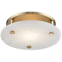 Croton LED 12 inch Aged Brass Flush Mount Ceiling Light
