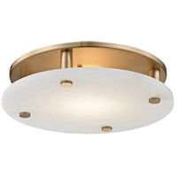 Croton LED 15 inch Aged Brass Flush Mount Ceiling Light, Large