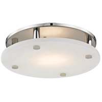 Croton LED 15 inch Polished Nickel Flush Mount Ceiling Light, Large