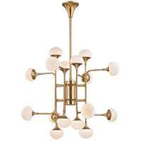 Fleming LED 37 inch Aged Brass Chandelier Ceiling Light